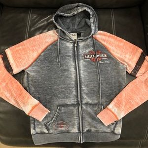 Harley Davidson zip up sweatshirt